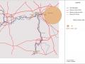 Carte Namur Givet trafic fluvial